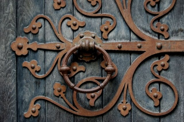 Lovely handle from Nidaros Cathedral in Trondheim, Norway