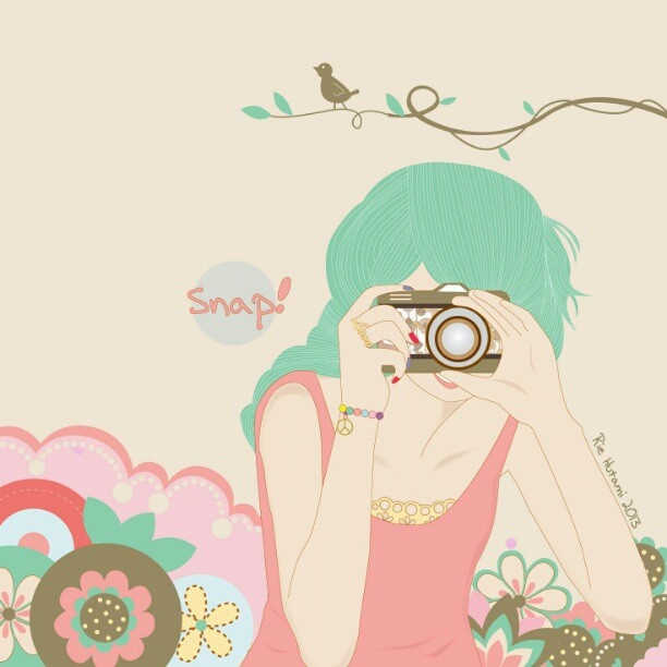 Snap & smile #drawing #drawbyme #girl #pink #camera #photograph #pastels #pastelcolours #illustration #illustrator #doodling #doodle #digitalart  #artwork #vector #vectorgirl #itagalot  #friday #afternoon #rainyday - @rie_hutami- #webstagram