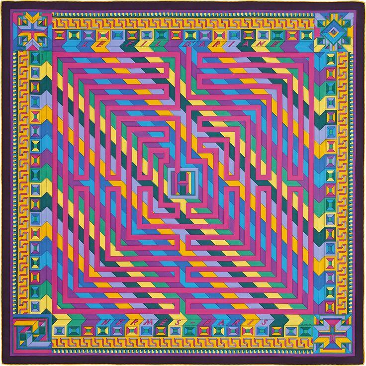 "36"" x 36"" scarf Hermès | Le Fil d'Ariane"