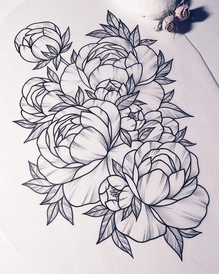 1014 besten tattoo blumen flower bilder auf pinterest rosentattoos t towierungen und. Black Bedroom Furniture Sets. Home Design Ideas