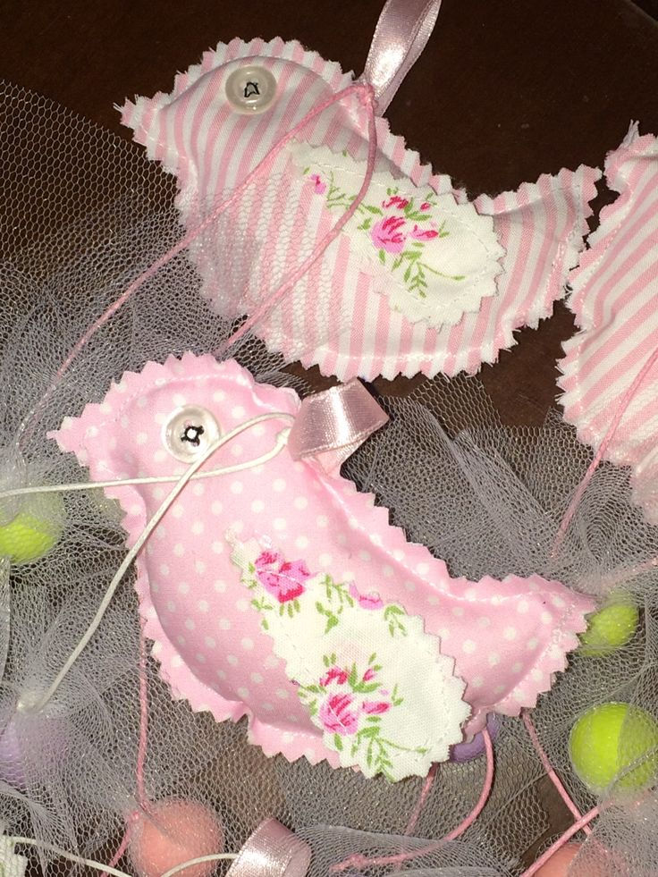 Favors fabric birds with composed fabrics  - Μπομπονιέριες πουλάκια σε συνδυασμούς υφασμάτων  #favorchristening #birdfavor #handmadefavor #christening #mpomponieres #almanogr #μπομπονιερες #βάφτιση