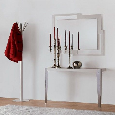 Mesa de dos patas metalicas mesas consolas de dos patas for Mesas de centro metalicas