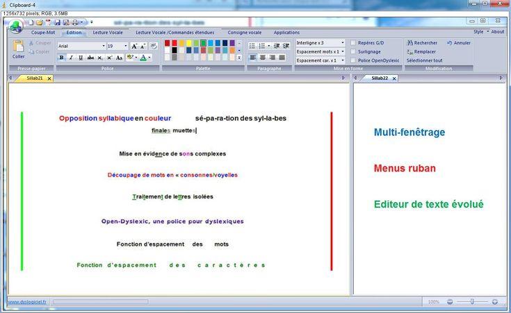 """Lien direct Dys-Vocal, logiciel pour dyslexie et dyspraxie visuo-spatiale logiciel gratuit dysprasie, """"coupe-mot"""". Le logiciel « Coupe-mot » est conçu pour aider les enfants à découper visuellement les syllabes et sons complexes dans les mots. Il peut aider certains enfants dyslexiques et/ou dyspraxiques visio-spatiaux dans l'apprentissage de la lecture, en simplifiant pour eux le découpage visuel des syllabes."""
