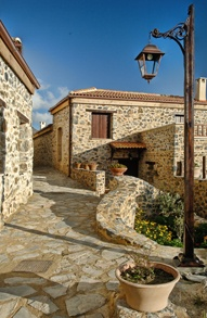 Thalori Traditional Houses in Kapetaniana Crete. Look! a stone house blending seamlessly with it's surroundings; Fantastic!