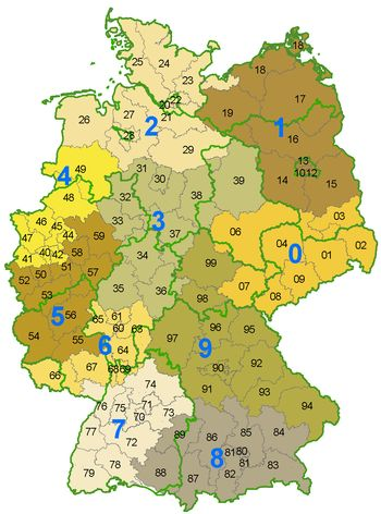 List of postal codes in Germany - Wikipedia, the free encyclopedia