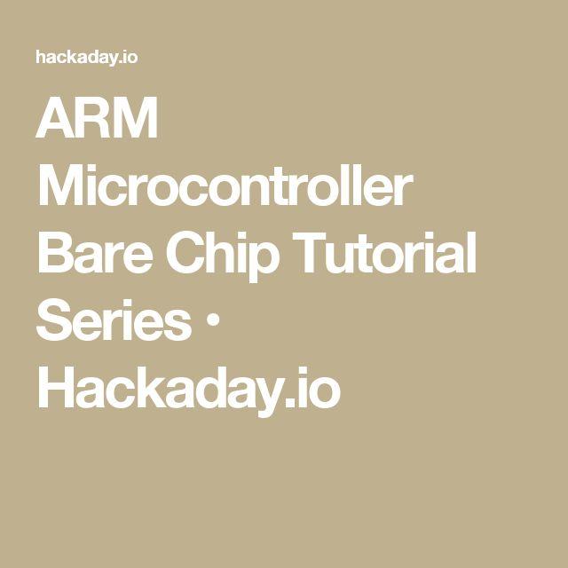 ARM Microcontroller Bare Chip Tutorial Series • Hackaday.io