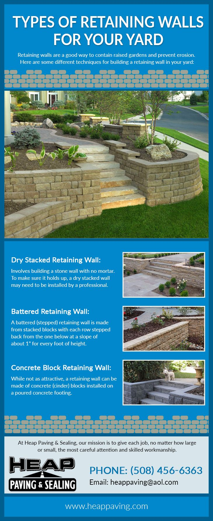 A Retaining Wall Is A Structure That Retains Any Material And Prevents It From Eroding Or Asphalt Paving Contractors Paving Contractors Types Of Retaining Wall