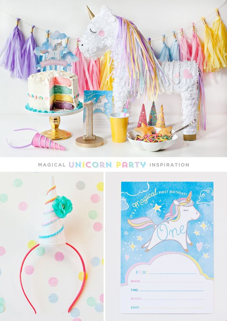 (Simple U0026 Sweet) Unicorn Birthday Party Ideas