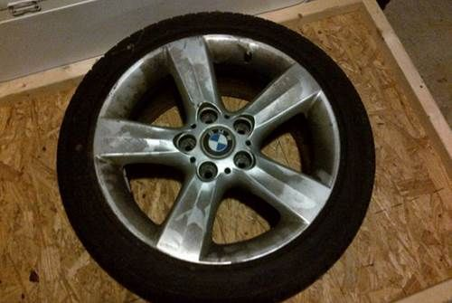 BMW Factory 17 inch Rims/Tires (3 Rims/4 Tires)  Style: 119