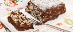 Limburgs gebak met chocolade en biscuitjes, makkelijk uit de koelkast!