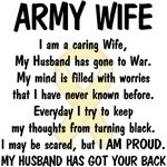 I'd change it to Army Mom and say My Daughter has gone to war.  :(