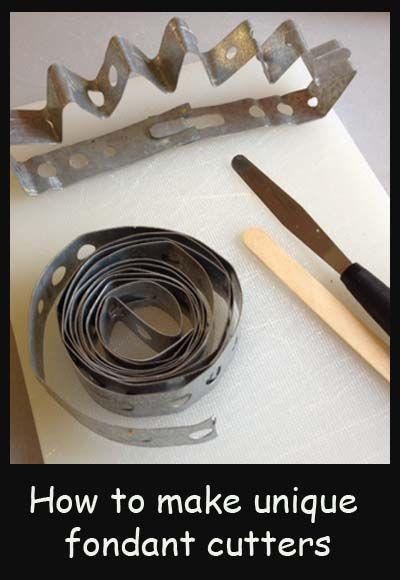 Make unique fondant cutters