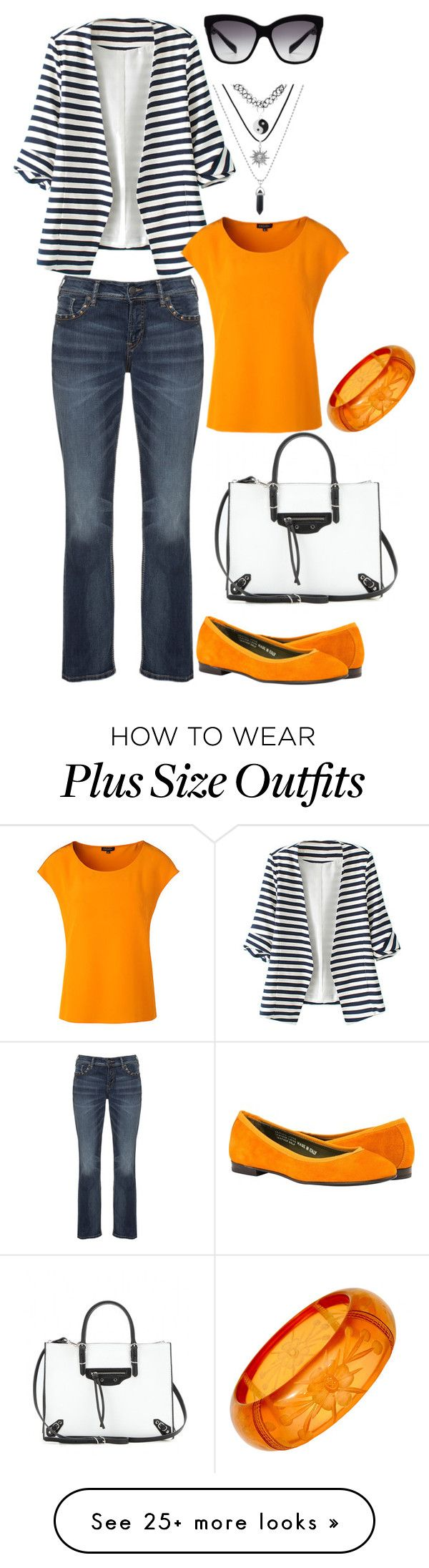 """""""Warm day"""" by memilia-4 on Polyvore featuring WithChic, Silver Jeans Co., Balenciaga, ESCADA and Dolce&Gabbana"""