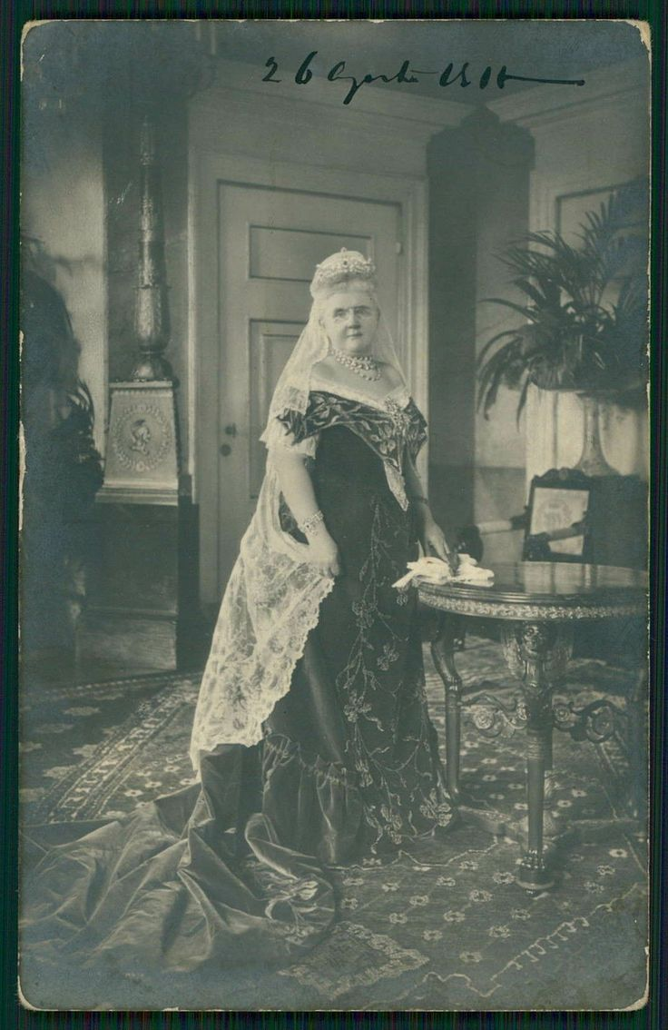 Queen Emma of the Netherlands, who  wore a mourning veil to honor her deceased husband, King William III of the Netherlands.