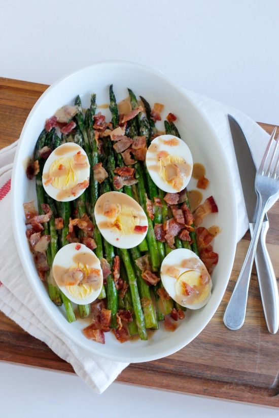 Asparagus Bacon and Egg Side Dish