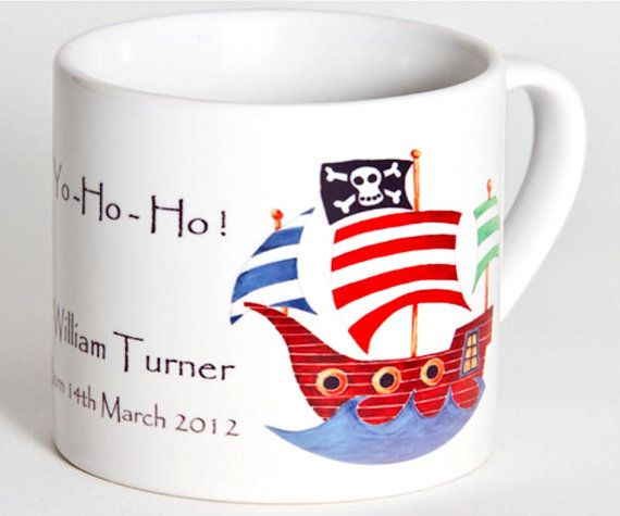 Child's Cup,Toddler Cup, Kids Cup, Christening Gift,Baptism Gift,1st Birthday Gift,Personalised Cup, Pirate Ship Cup