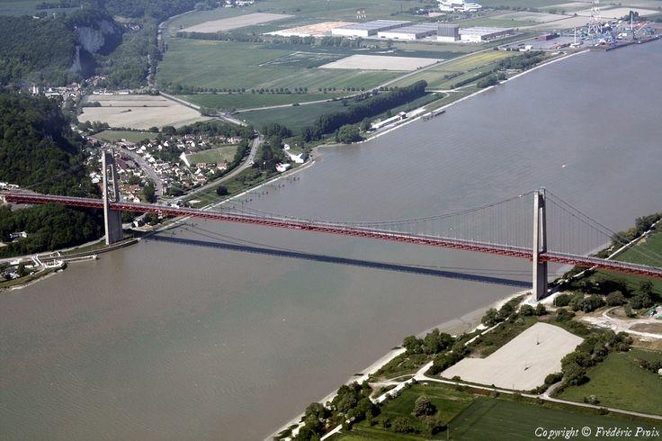 ✈️ Photo aérienne de : Pont de Tancarville - Seine-Maritime (76)