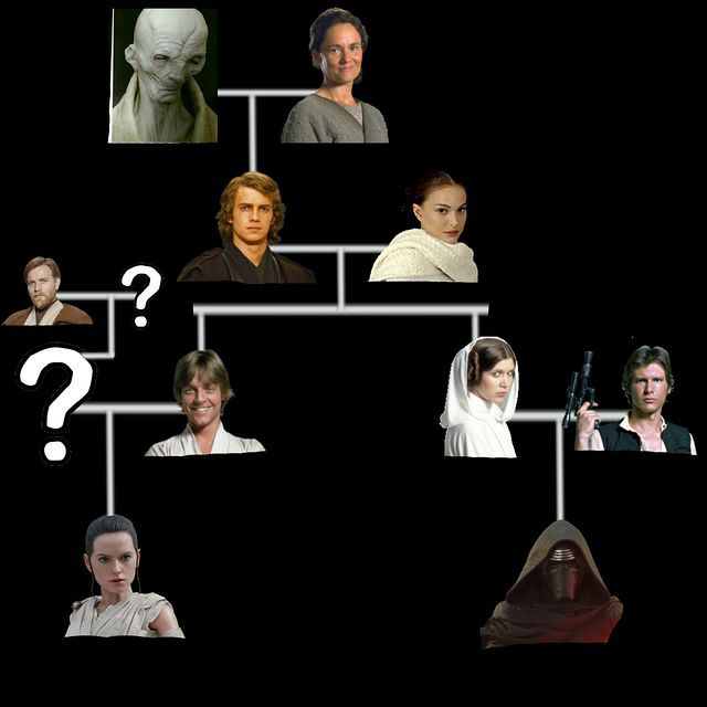 Here's a good theiry on the Skywalker lineage... The Lighter Side of the Force: The Skywalker Family Tree UPDATED after THE FORCE AWAKENS