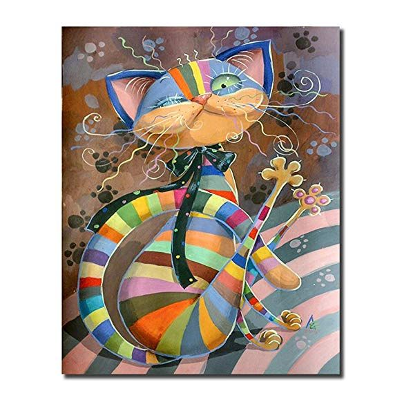 Cute Cat Castle Crystal Rhinestone Embroidery Pictures Arts Craft Gift for Home Wall Decor DIY 5D Diamond Painting Full Kits