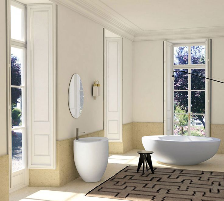 Le Giare is a complete bathroom collection designed for Cielo by Claudio Silvestrin. Le Giare collection is characterized by a sinuous design, austere but not extreme, contemporary, elegant but without ostentatious, suitable for any bathroom. The sinuous lines draw perfect circular shapes that flow into the oval outside, giving birth to a real ceramic sculpture of pure geometry. #baths #bathroom #interior_design