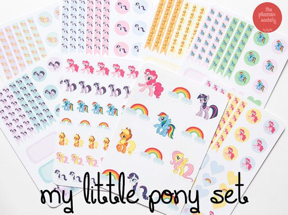 My Little Pony Stickers Set di ThePlannerSociety su Etsy
