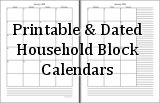 Quite a few different blank calendars to print and use for scheduling- homeschool, school calendars also