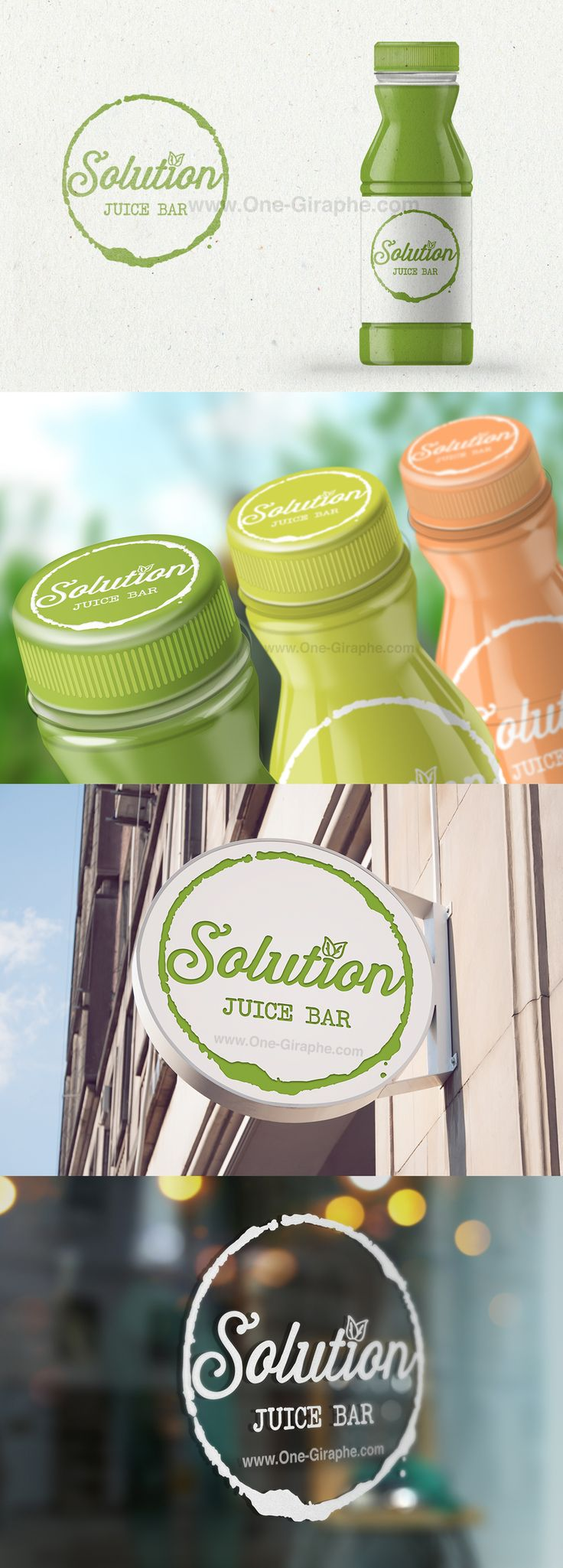 #logo #design #sale #logostore #stocklogos #logopond #behance #brand #identity #brandidentity #graphic #graphicdesign #designer #gold #classic #juice #green #eco #bio #bar #packaging #bottle Another cool client: Solution - Juice Bar, located in Stavanger, Norway http://one-giraphe.com/prev.php?c=123