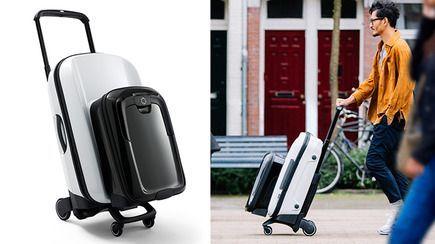 スーツケースは押して移動ベビーカーのバガブーがスーツケースを開発