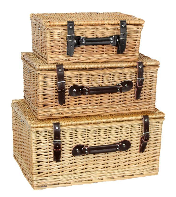 Red Hamper - Set 3 30cm, 40cm and 50cm Buff Empty Picnic Baskets, £60.00 (http://www.redhamper.co.uk/set-3-30cm-40cm-and-50cm-buff-empty-picnic-baskets/)