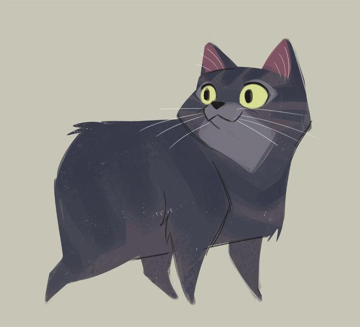 Daily Cat Drawings — 497: Manx