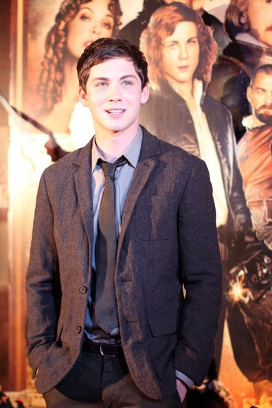 Logan Lerman at the premiere The Three Musketeers