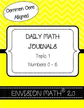 Math journals are a great resource which can be used in various ways in the classroom. This product has a journal for each math lesson in topic 1 of the EnVision Math 2.0 kindergarten curriculum. There is also a review journal at the end of the topic.