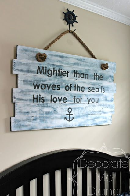 Decorate Me Diana: Nautical Sign {DIY} via @Diana Avery Avery Avery Avery Avery- Nautical Nursery