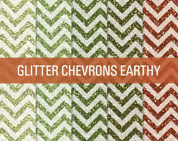 Glitter Chevron Textures Earthy by SonyaDeHart on @creativemarket