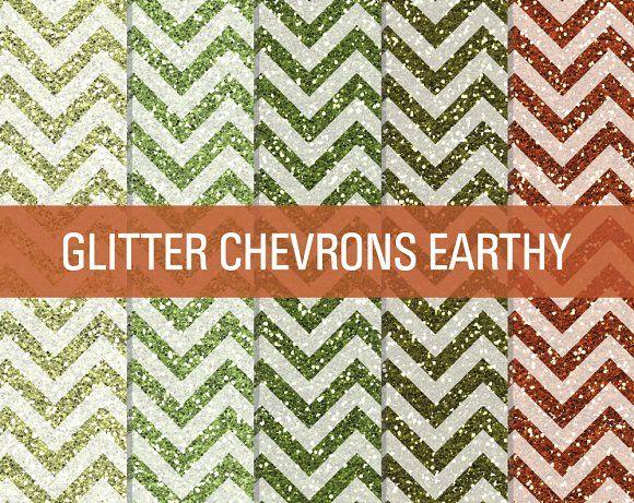 Glitter Chevron Textures Earthy by SonyaDeHart on @creativemarket