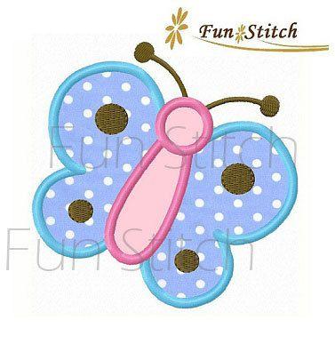 disegno di farfalla applique macchina ricamo