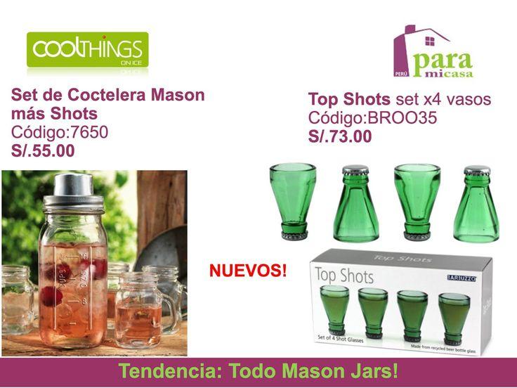 Shorts Mason Jars !!! paramicasaperu@gmail.com
