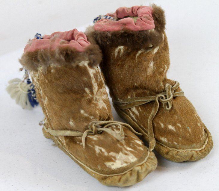 Inuit Eskimo Seal Skin Child's Mukluks