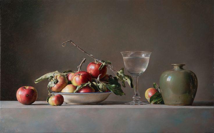 Natura Morta con Mele - 2016 olio su tavola cm 50x80 © Gianluca Corona