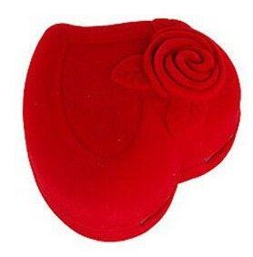 ViviLady 20 шт./лот Красная Бархатная Роза Ювелирные Изделия Упаковка Подарочная Коробка размер 5*4.5 см Для кольца серьги бесплатно доставка