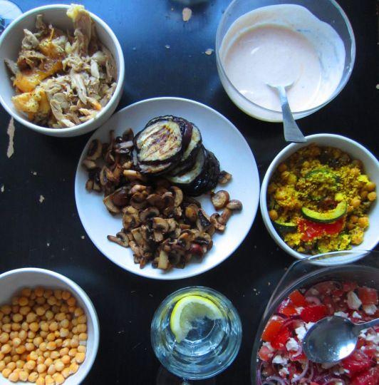 Libanese wrap met kip en groente