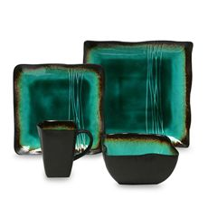 In love with the bold colors in this set!!! Will match perfect with the Decor idea I have for the dining room blending with the living room
