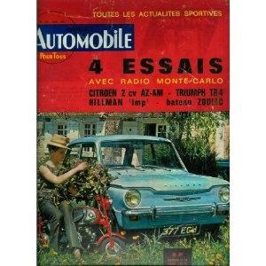 L'Automobile n°206 du 01/06/1963 - 4 essais : Citroën 2 CV AZ-AM, Triumph TR4, Hillman Imp couv. , bateau Zodiac Mark-2 - Rolls-Royce et Bentley - Mini-Cooper S - L'Innocenti IM3 - Stirling Moss - Soleil de minuit - La 4 cyl. Delage -... [magazine mis en vente par Presse-Mémoire]