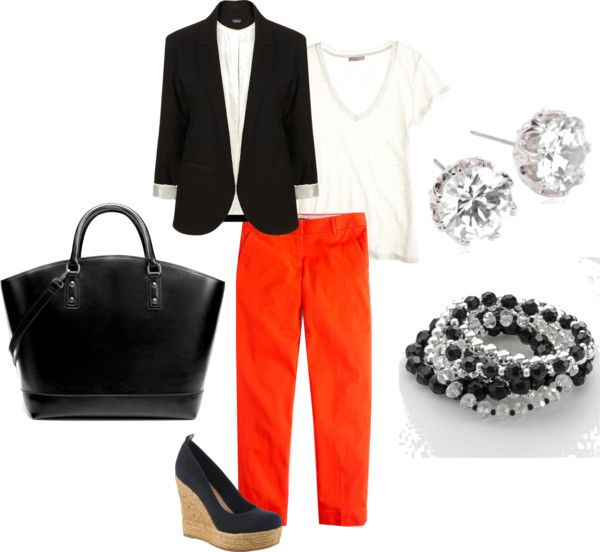 casual interview outfit, created by mlblais on Polyvore