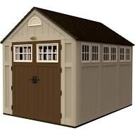 Resin Storage Shed 7'X3' - Dark Taupe - Suncast, Brown