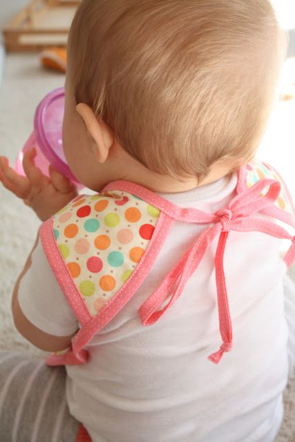 The Bapron (baby apron) - with pattern. Great for a messy little girl who wants to feed herself!