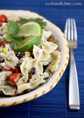 Southwest Pasta Salad | Our Best Bites.  Love this salad! So good. My mom and I liked the dressing that the recipe calls for, but we use the Newman's Lime vinaigrette and it's delicious!