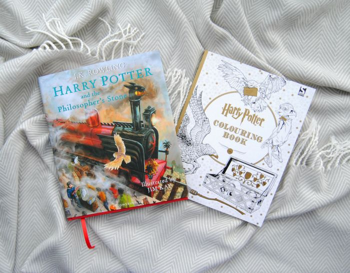 Christmas Presents 2015 on Lovely Witches. Harry Potter and the Philosopher's Stone: Illustrated Edition and Harry Potter Colouring Book.