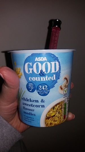 I came across on the Slimming World app by accident that Asda's chicken and sweetcorn pot noodle is synfree !!! Currently on offer at 2 for £1