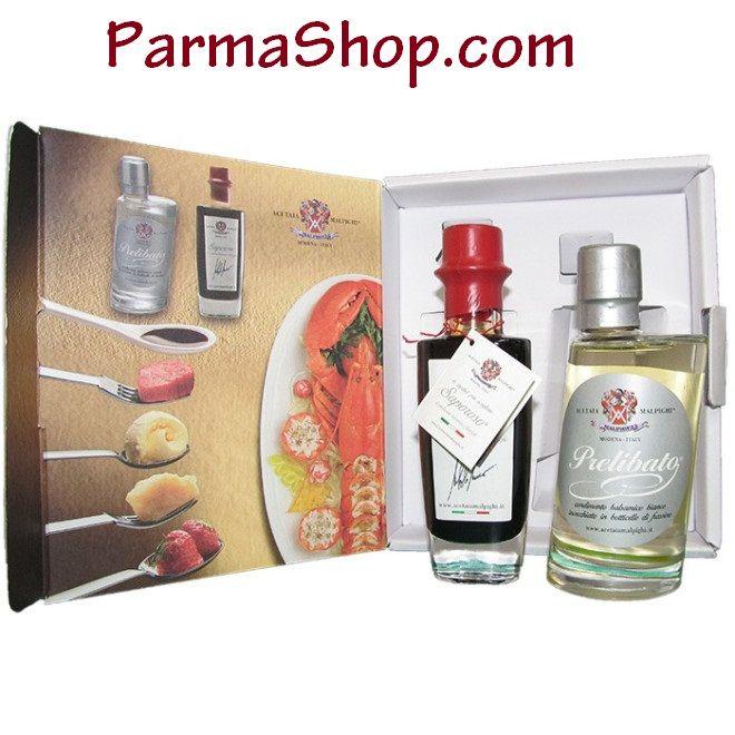 """Condiment box """"LAND AND SEA"""" Saporoso and Prelibato Balsamic Condiments"""